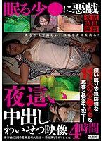 對睡著的少女惡作劇 夜襲中出猥褻映像4小時